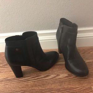 Calvin Klein Black Leather Bootie Shoe, 8M